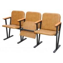 Кресло для актового зала в кожзаменителе 1550х530х830 мм