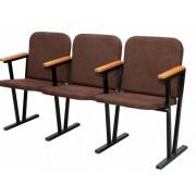 Кресло для актового зала трёхместное 1550х530х830 мм