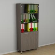 Шкаф для документов со стеклом к-255 (600*330*1876h)