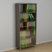 Шкаф со стеклом для документов  к-258 (600*330*1876h)