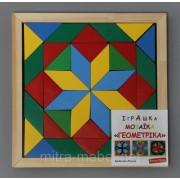 Мозаика деревянная, 40 деталей (2-ва вида фигур)