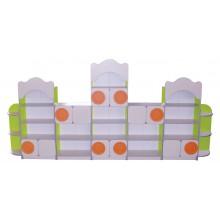 Стенка для игрушек из 7-ми элементов (3600*300*1700h мм)
