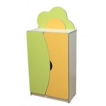 Детская стенка Цветочная поляна №2 с дверцей (600х300х1247h)