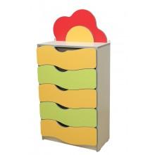Детская стенка Цветочная поляна №3 с ящиками (600х300х1247h)