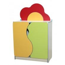 Детская стенка Цветочная поляна №5 закрытая (600х300х957h)
