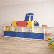 Стенка для детского сада КОРАБЛИК (4200*400*1800h)