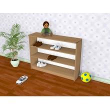 Полка для обуви в детский сад 1200*280*735h