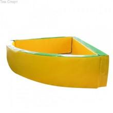Сухой бассейн угловой 130-130-40 см