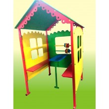 """Уличный домик-беседка """"Кроха"""" с счетами , скамейками и столиком"""