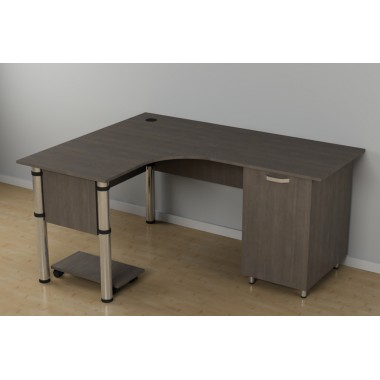Стол угловой для офиса c-248 (1500*1200*726h)