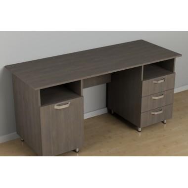 Двухтумбовый стол для офиса c-256 (1500*600*726h)