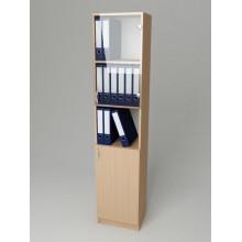 Шкаф для документов со стеклом K-130 (300*320*1860h)