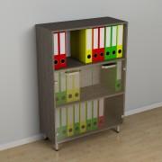 Шкаф для документов со стеклом к-229 (600*330*1156h)