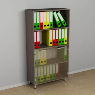 Офисный шкаф со стеклом к-239