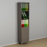 Шкаф офисный со стеклом к-254  (400*330*1876h)
