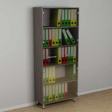 Шкаф со стеклом для документов (600*330*1876h)