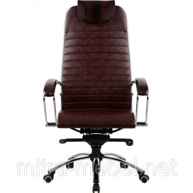 Кресло руководителя кожаное Samurai K1 BROWN