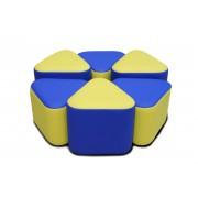 Детских игровые пуфы Спиннер (Ø90х30(35) (6-элементов)