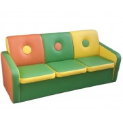 Детский игровой диван Пуговка-3 (1360х550х670h )
