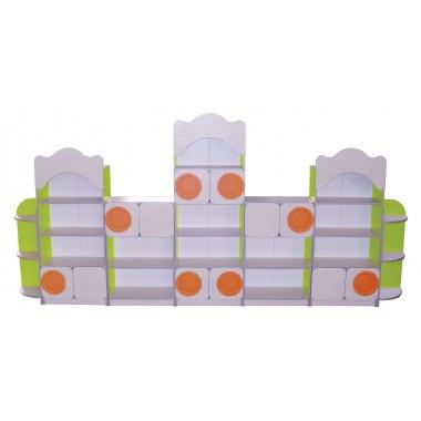 Стенка для игрушек из 7-ми элементов
