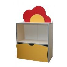 Детская стенка Цветочная поляна №1 с ящиком (600х300х957h)