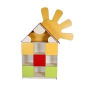 Детская стенка Цветочная поляна №10 Дом (1332х320х1834h)