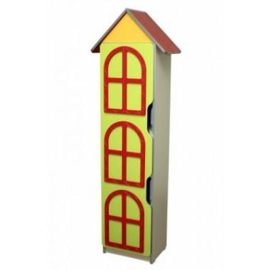 Детская стенка Цветочная поляна №8 Башня (920х320х1776h)