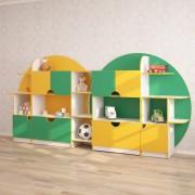 Стенка для игрушек ПЛАНЕТА (3270*400*1535h)