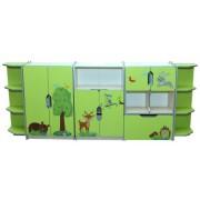 Детская стенка для игрушек Зверята (3400*350*1480h)