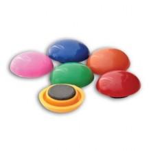 Магниты цветные d=3 см. (6-шт.)