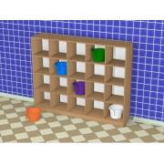 Шкаф детский для горшков (1500*300*1202h)