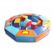 Сухой бассейн-манеж цветной с конструктором 210х30 см